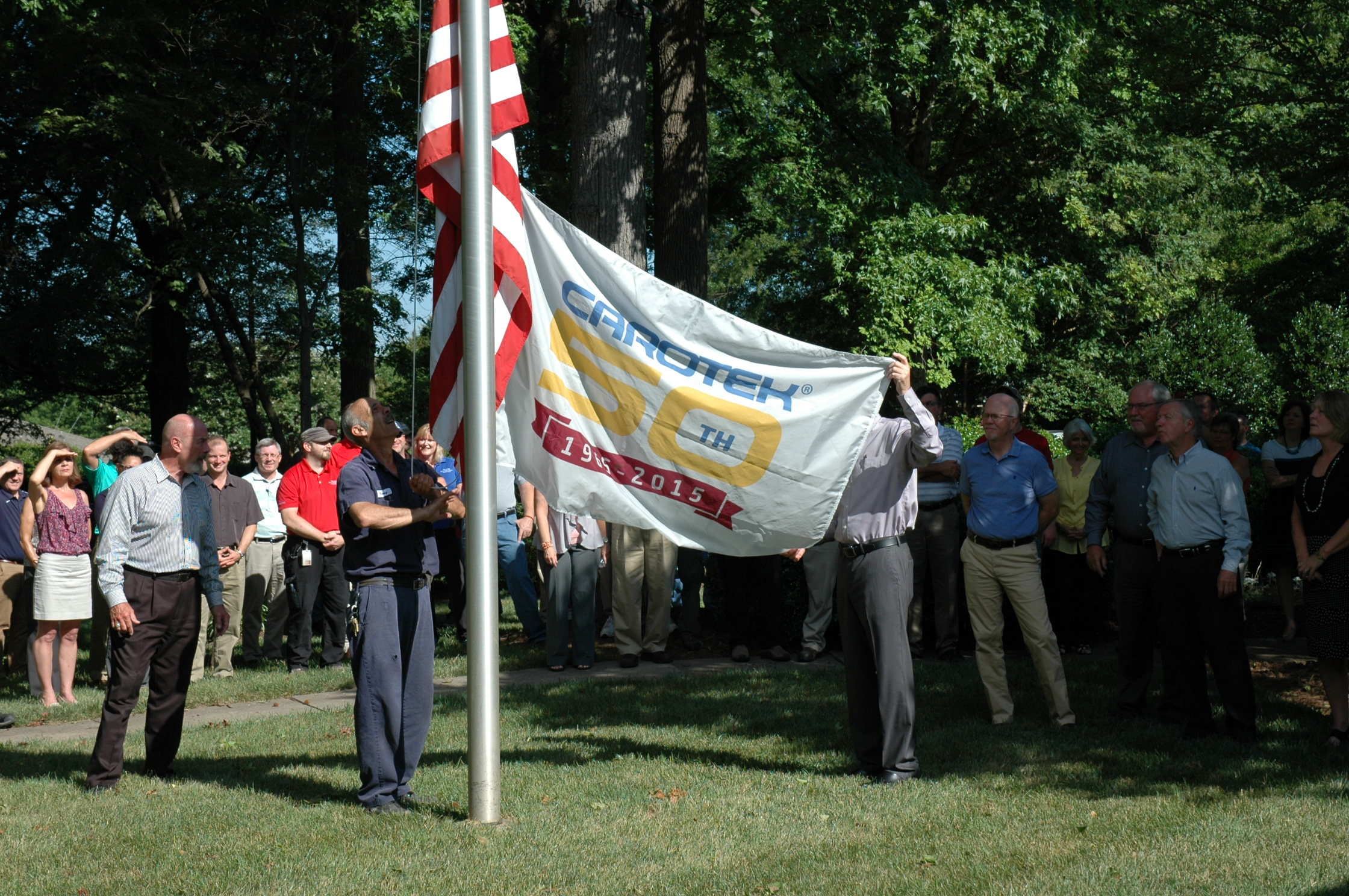 50th flag showing