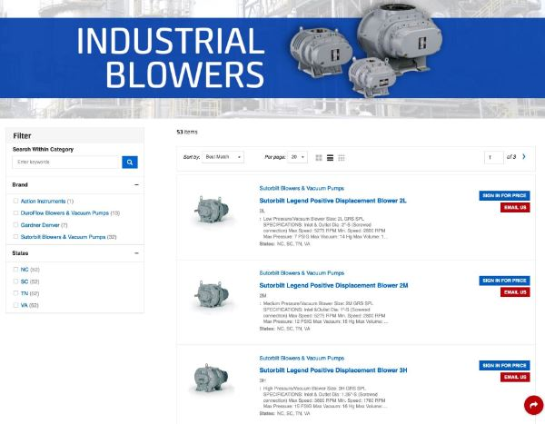 Carotek Industrial Blowers - buy online