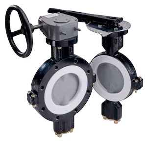 Durco BTV 2000 lined butterfly valve
