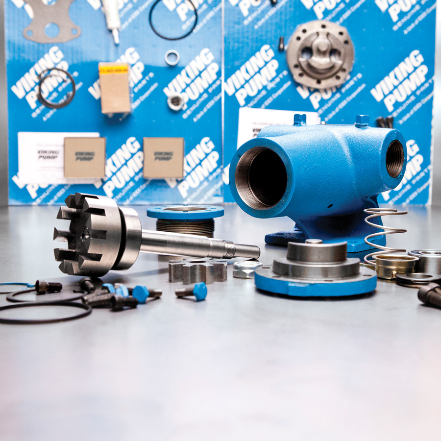 Viking Pump Parts - Accessories-Bearings-Bushings-Rotors-Motors-Screws-Endcap-casing-seals-collars-couplingguards-plates-gaskets-idlerpins-fittings-orings-nuts-packing-springs-poppets-washers-headparts-reliefvalve-equipment