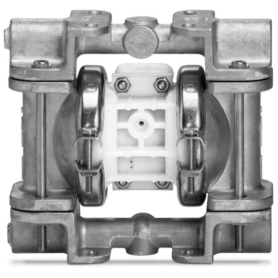 """Wilden AODD Pump - P.025 - 00-9938 - 6 mm (1/4"""") Pro-Flo® Series Clamped Stainless Steel Pump with Teflon & EPDM"""