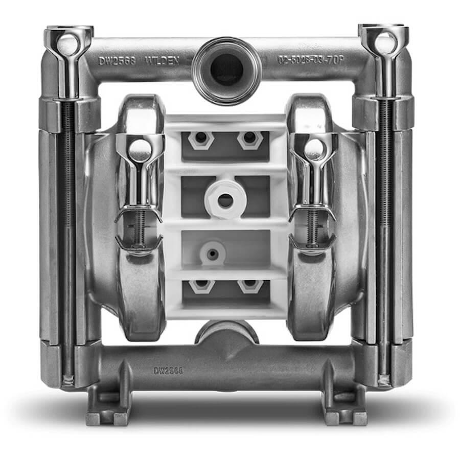 "Wilden AODD Pump - P2 - 02-12741 - 25 mm (1"") Pro-Flo®Saniflo™ FDA Series Clamped Stainless Steel Pump with Teflon (PTFE)"