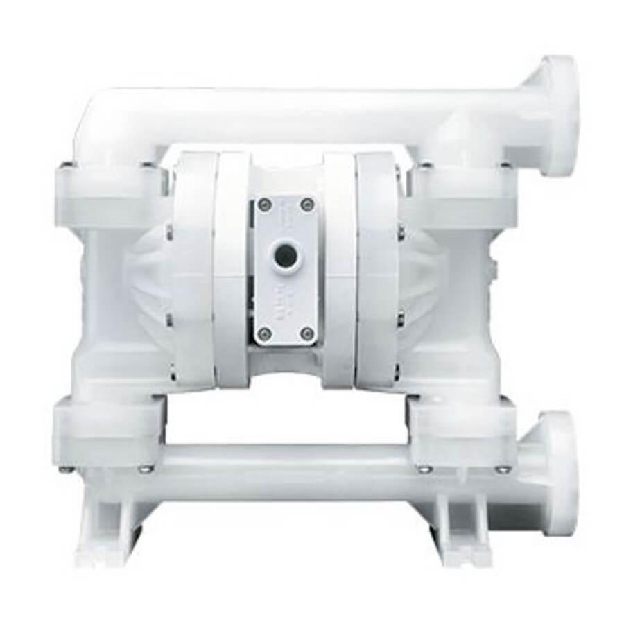 """Wilden AODD Pump - P200 - 02-12239 - 25 mm (1"""") Pro-Flo® Series Bolted Plastic Pump with Teflon and Wilflex"""
