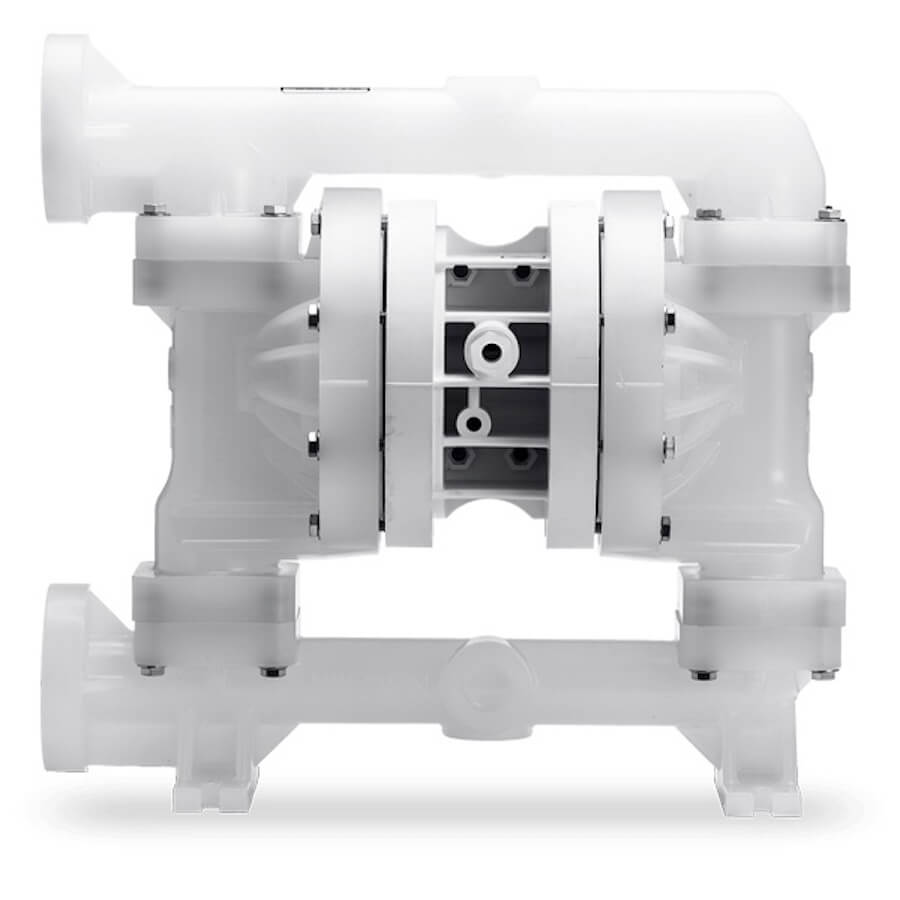 """Wilden AODD Pump - P200 - 02-10580 - 25 mm (1"""") Pro-Flo® Series Bolted Plastic Pump  with PTFE and Neoprene"""