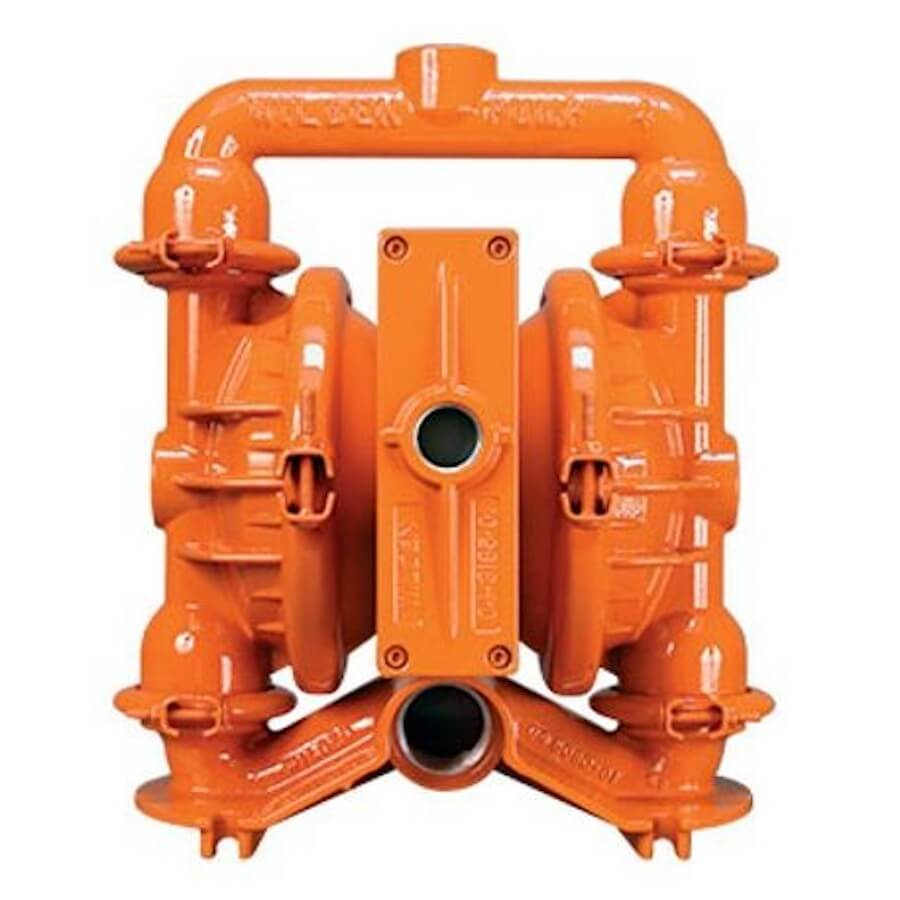 "Wilden AODD Pump - P4 - 04-0111 - 38 mm (1-1/2"") Pro-Flo® Series Clamped Aluminum Pump with Buna"