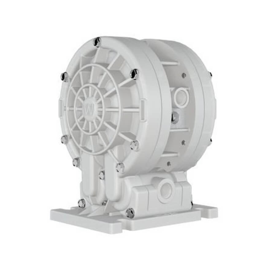 "Wilden AODD Pump - V2550 - 00-10142 - 6 mm (1/4"") Velocity Series Bolted Kynar (PVDF) Pump with Teflon (PTFE)"